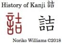 History of Kanji 詰