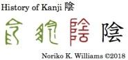 History of Kanji 陰