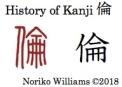 History of Kanji 倫