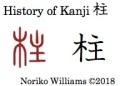 History of Kanji 柱