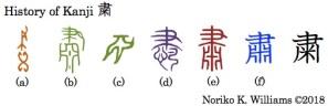 History of Kanji 粛