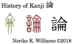 History of Kanji 論