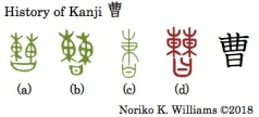 HIstory of Kanji 曹