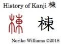 History of Kanji 棟