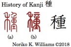 History of Kanji 種