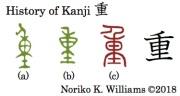 History of Kanji 重