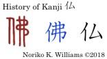 History of Kanji 仏