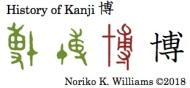 History of Kanji 博