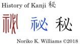 History of Kanji 秘