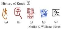 History of Kanji 医